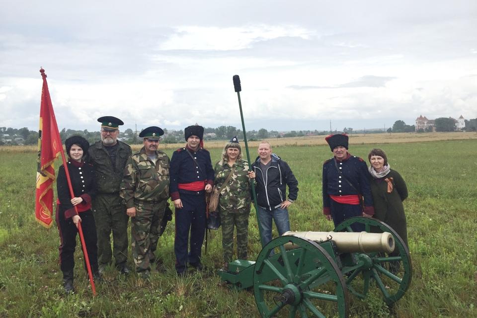 Жодинцы на реконструкции кавалерийского боя под Миром.