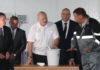"""Аляксандр Лукашэнка ў час наведвання фарэлевай гаспадаркі """"Лахва"""""""