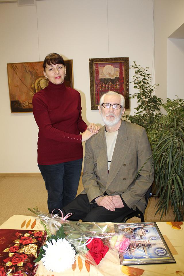 Главный соратник художника – его жена Галина.